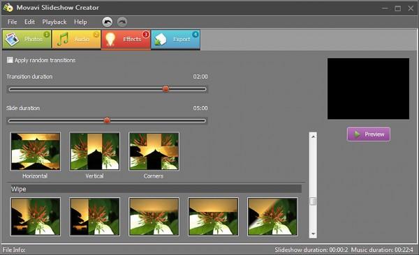 Movavi Slideshow Creator – удобная программа, предназначенная специально для создания слайд-шоу из картинок и фотографий!