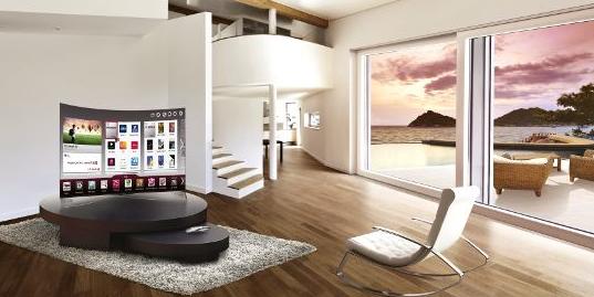 Отличительная особенность OLED-телевизора – его изогнутый экран и корпус толщиной всего в 4,3 миллиметра
