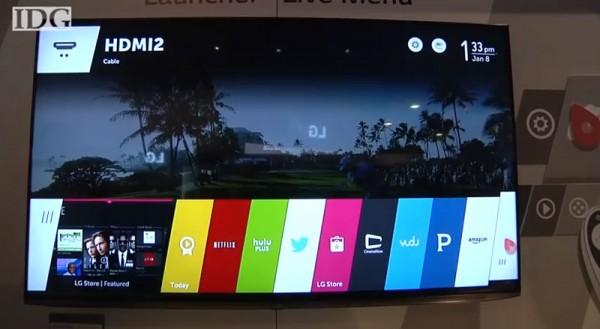 WebOS в телевизорах LG имеет графическую оболочку